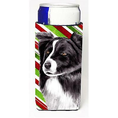 Border Collie Candy Cane Holiday Christmas Michelob Ultra bottle sleeves For ... • AUD 47.47