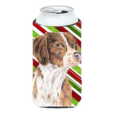 Brittany Candy Cane Holiday Christmas Tall Boy bottle sleeve Hugger 22 To 24 oz.