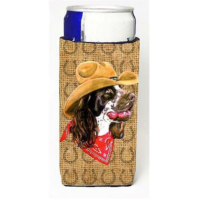Springer Spaniel Dog Country Lucky Horseshoe Michelob Ultra bottle sleeves Fo...
