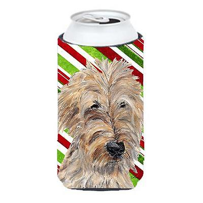 Goldendoodle Candy Cane Christmas Tall Boy bottle sleeve Hugger 22 To 24 oz.