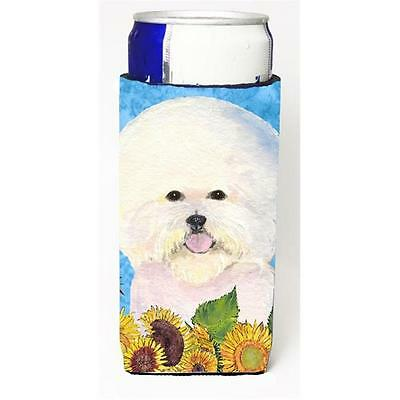 Bichon Frise In Summer Flowers Michelob Ultra bottle sleeves For Slim Cans 12...
