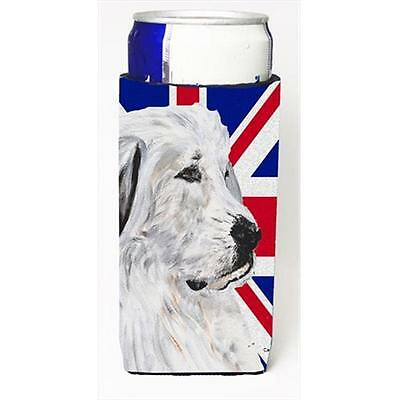 Great Pyrenees With English Union Jack British Flag Michelob Ultra bottle sle...