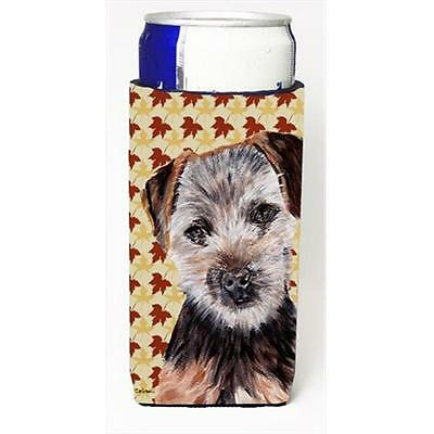 Norfolk Terrier Puppy Fall Leaves Michelob Ultra bottle sleeves Slim Cans 12 Oz.