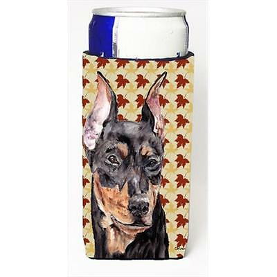 German Pinscher Fall Leaves Michelob Ultra bottle sleeves Slim Cans 12 Oz.