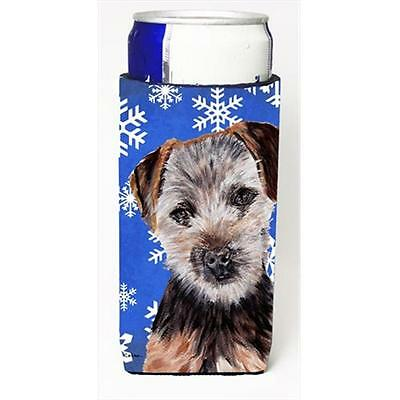 Norfolk Terrier Puppy Winter Snowflakes Michelob Ultra bottle sleeves Slim Ca...