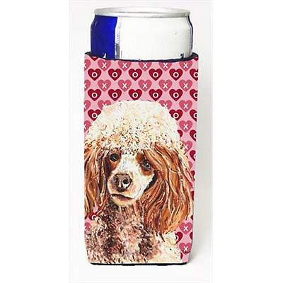 Red Miniature Poodle Hearts And Love Michelob Ultra bottle sleeves Slim Cans ...
