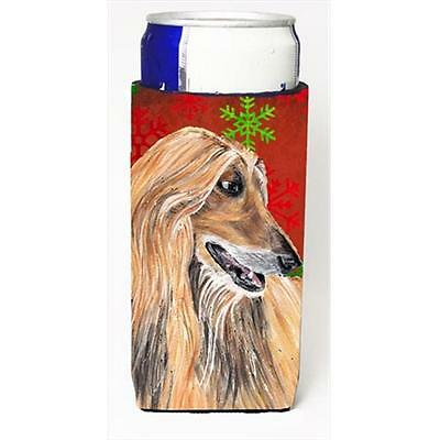 Afghan Hound Red Snowflakes Holiday Christmas Michelob Ultra bottle sleeves F...