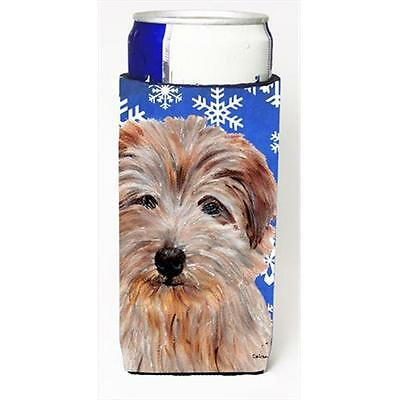 Norfolk Terrier Winter Snowflakes Michelob Ultra bottle sleeves Slim Cans 12 Oz.