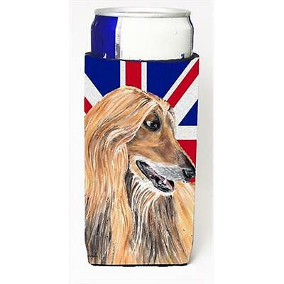 Afghan Hound With English Union Jack British Flag Michelob Ultra bottle sleev...