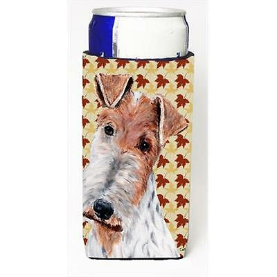 Wire Fox Terrier Fall Leaves Michelob Ultra bottle sleeves Slim Cans 12 Oz.