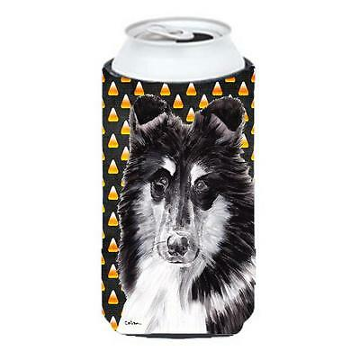 Black And White Collie Candy Corn Halloween Tall Boy bottle sleeve Hugger 22 ...