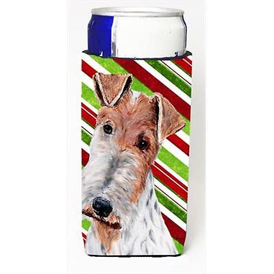 Wire Fox Terrier Candy Cane Christmas Michelob Ultra bottle sleeves Slim Cans...