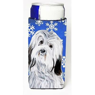 Havanese Winter Snowflakes Michelob Ultra bottle sleeves Slim Cans 12 Oz.