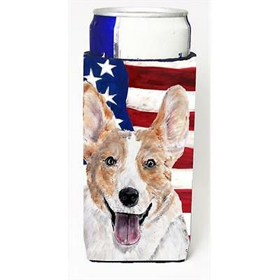 Cardigan Corgi With American Flag Usa Michelob Ultra bottle sleeves Slim Cans...