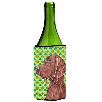 Redbone Coonhound Lucky Shamrock St. Patricks Day Wine bottle sleeve Hugger 2...