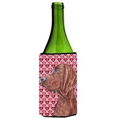 Redbone Coonhound Hearts And Love Wine bottle sleeve Hugger 24 Oz.