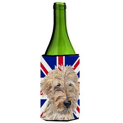 Golden Doodle With English Union Jack British Flag Wine bottle sleeve Hugger ...