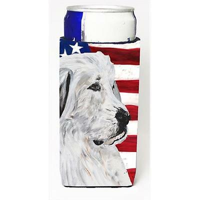 Great Pyrenees With American Flag Usa Michelob Ultra bottle sleeves Slim Cans...