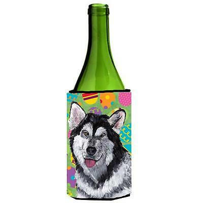 Alaskan Malamute Easter Eggtravaganza Wine bottle sleeve Hugger 24 Oz.