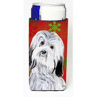 Havanese Red Snowflakes Holiday Michelob Ultra bottle sleeves Slim Cans 12 Oz.