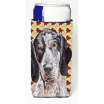 Blue Tick Coonhound Fall Leaves Michelob Ultra bottle sleeves Slim Cans 12 Oz.
