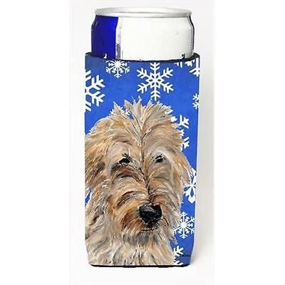 Golden Doodle 2 Winter Snowflakes Michelob Ultra bottle sleeves Slim Cans 12 Oz.