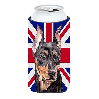 German Pinscher With English Union Jack British Flag Tall Boy bottle sleeve H...