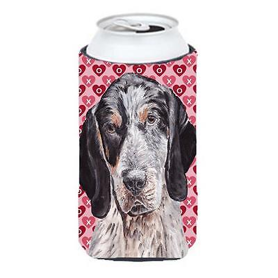 Blue Tick Coonhound Hearts And Love Tall Boy bottle sleeve Hugger 22 To 24 Oz.