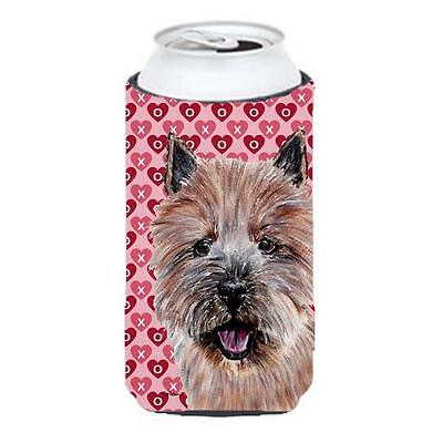 Norwich Terrier Hearts And Love Tall Boy bottle sleeve Hugger 22 To 24 Oz.
