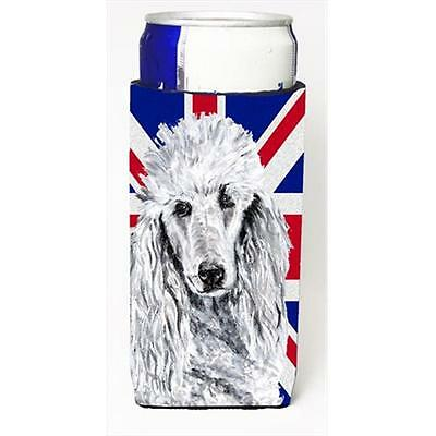 White Standard Poodle With English Union Jack British Flag Michelob Ultra bot...