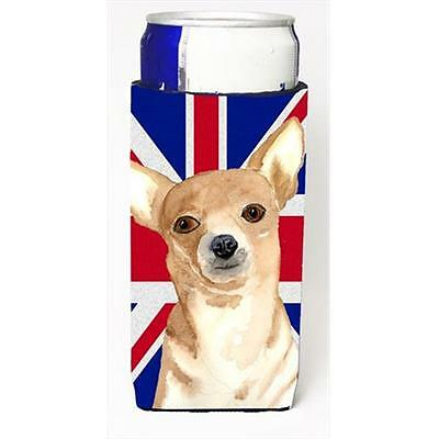Chihuahua Cooper With English Union Jack British Flag Michelob Ultra bottle s...