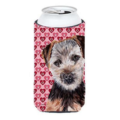Norfolk Terrier Puppy Hearts And Love Tall Boy bottle sleeve Hugger 22 To 24 Oz.