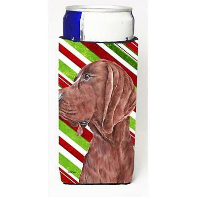 Redbone Coonhound Candy Cane Christmas Michelob Ultra bottle sleeves Slim Can...