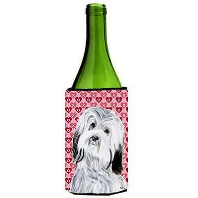 Carolines Treasures Havanese Hearts And Love Wine bottle sleeve Hugger 24 Oz.