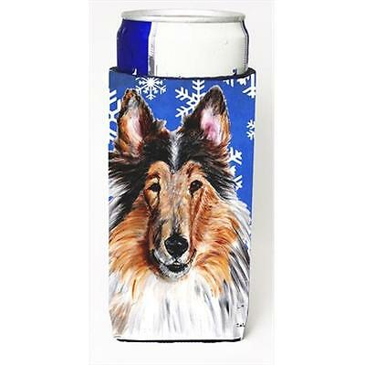 Collie Winter Snowflakes Michelob Ultra bottle sleeves Slim Cans 12 Oz.