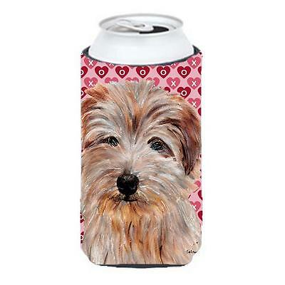 Norfolk Terrier Hearts And Love Tall Boy bottle sleeve Hugger 22 To 24 Oz.
