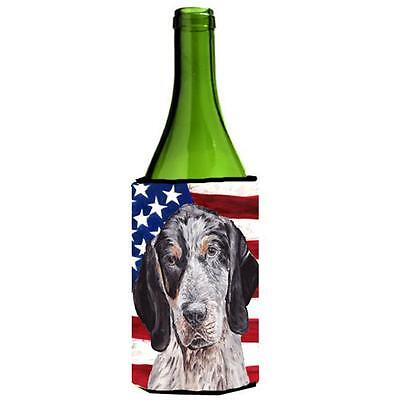 Blue Tick Coonhound With American Flag Usa Wine bottle sleeve Hugger 24 Oz.