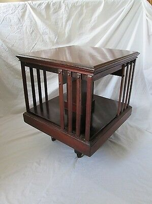 Antique Edwardian Mahogany Revolving Bookcase.