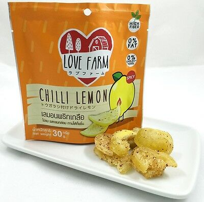 Chilli Lemon Glace Fruit Natural Sweet Sour Spicy Chewing Thai Snack Partypicnic