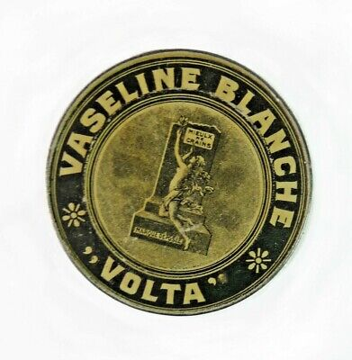 Ancienne Boite Tole litho Vaseline Volta French Antique Tin Box Vaseline Volta