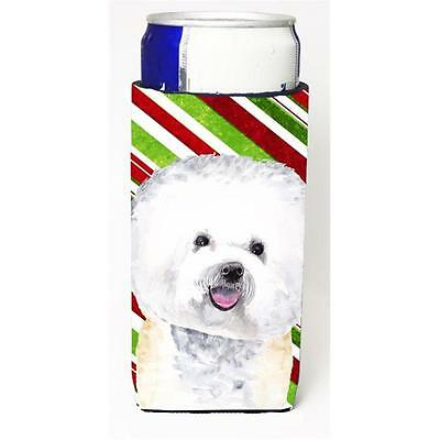 Bichon Frise Candy Cane Holiday Christmas Michelob Ultra bottle sleeves For S...
