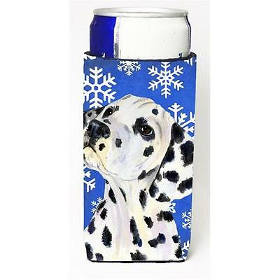 Dalmatian Winter Snowflakes Holiday Michelob Ultra bottle sleeves for slim ca...