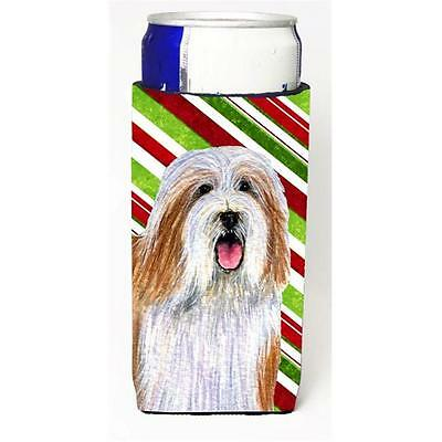 Bearded Collie Candy Cane Holiday Christmas Michelob Ultra bottle sleeves For...