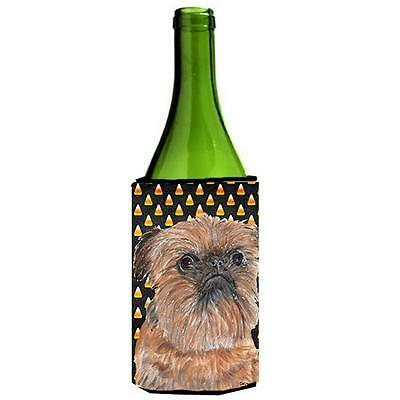 Brussels Griffon Halloween Candy Corn Wine bottle sleeve Hugger
