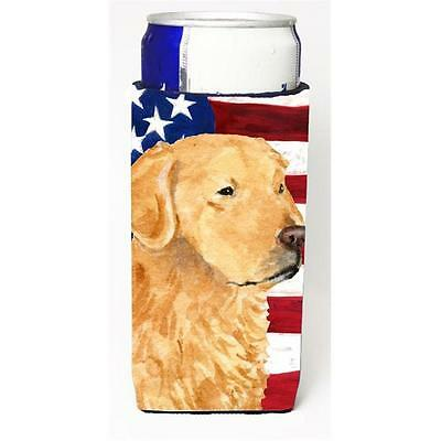 Usa American Flag With Golden Retriever Michelob Ultra s For Slim Cans 12 oz.