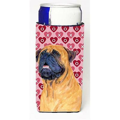 Mastiff Hearts Love And Valentines Day Portrait Michelob Ultra bottle sleeves...