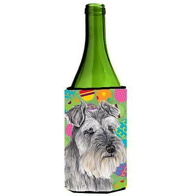 Carolines Treasures Schnauzer Easter Eggtravaganza Wine Bottle Hugger 24 oz.