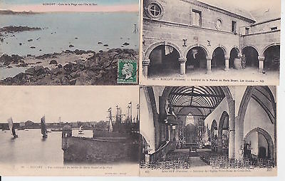 Lot 4 cartes postales ancienne ROSCOFF 4