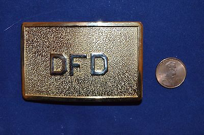 Vintage Gold Detroit  Dfd Fire Dept. Belt Buckle  Nos