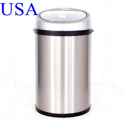 12L3Gal Automatic Sensor Touchless Trash Can Motion Garbage Set Home Kitchen Use